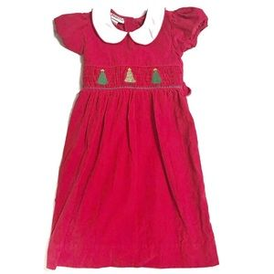 LOLLY WOLLY DOODLE Girls Red Christmas Dress 6